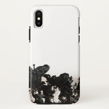 Coffee Themed Black Color iPhone X Case