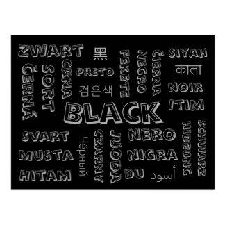 Black - Color Languages on Postcards