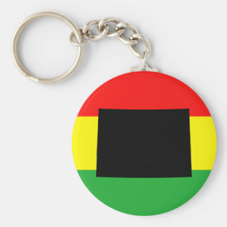 Black Colorado on Rasta Colors Key Chains