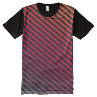 Black & colored diagonal stripes II + your ideas All-Over-Print Shirt