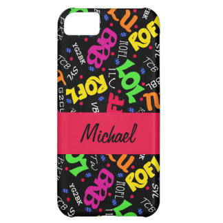 Black Colorful Electronic Texting Art Abbreviation iPhone 5C Case