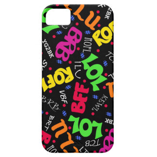 Black Colorful Electronic Texting Art Abbreviation iPhone SE/5/5s Case
