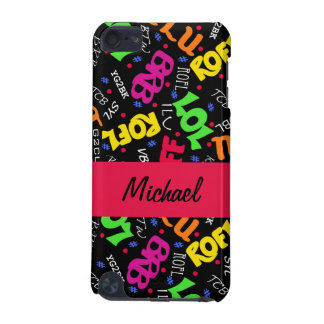 Black Colorful Electronic Texting Art Abbreviation iPod Touch 5G Covers