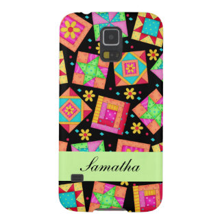 Black & Colorful Patchwork Quilt Block Custom Case For Galaxy S5