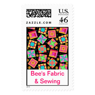Black Colorful Patchwork Quilt Business Promotion Postage Stamps