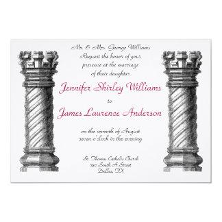Black Columns Wedding Invitation