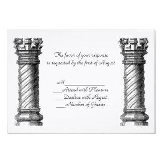 Black Columns Wedding RSVP Card