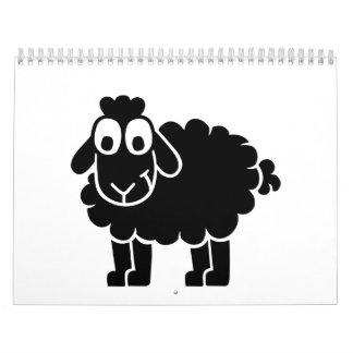 Black comic sheep calendar
