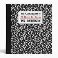 Black Composition Notebook 3 Ring Binder