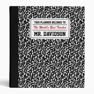 Black Composition Notebook Vinyl Binders