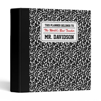 Black Composition Notebook Binders