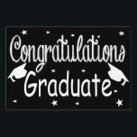 "Black Congratulations Graduate Yard Sign<br><div class=""desc"">Black Congratulations Graduate Yard Sign.</div>"