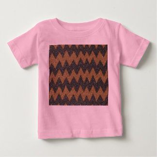 Black Cooper Girly ZigZag Glitter Photo Print Baby T-Shirt
