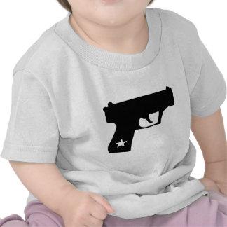 Black Cop Pistol Star Gun Shirts