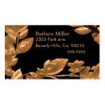 Black & Copper Garden Business Card Templates