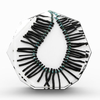 Black Coral Turquoise Necklace Southwest Jewelry Acrylic Award