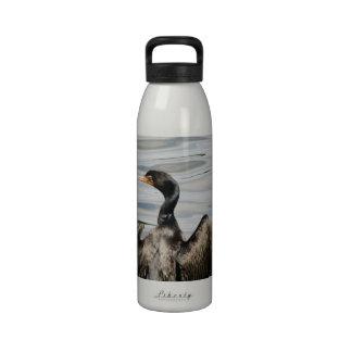 Black Cormorant Drinking Bottle
