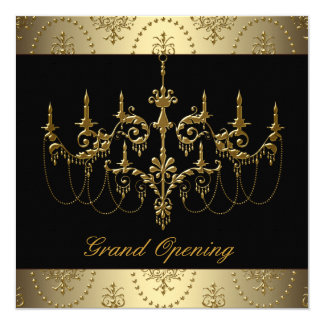 Black Corporate Business Grand Opening Party Card