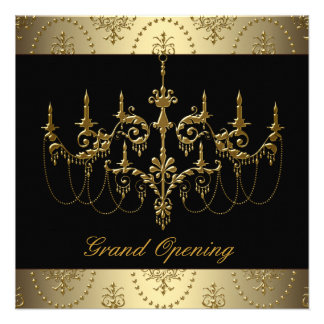 Black Corporate Business Grand Opening Party Custom Announcements