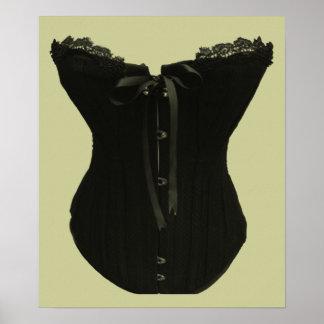 Black Corset Art Poster