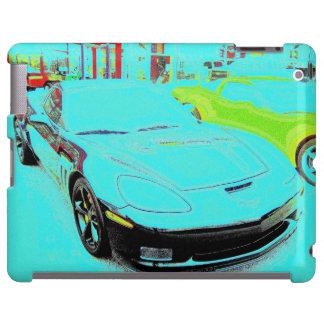 Black Corvette Altered Photo on Dealer's Lot