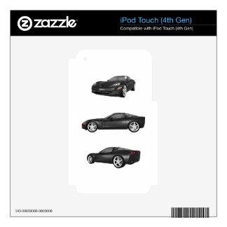 Black Corvette Skins For iPod Touch 4G