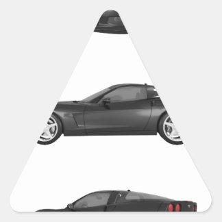 Black Corvette Triangle Sticker