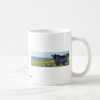 black cow & landscape painting classic white coffee mug