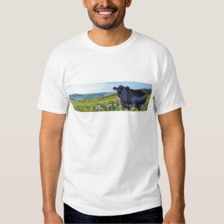black cow & landscape painting t shirt