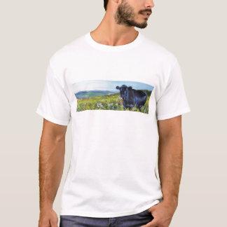 black cow & landscape painting T-Shirt