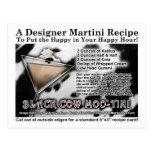 Black Cow Moo-Tini Martini Recipe Postcard