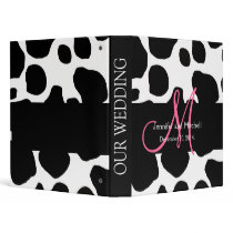 Black Cow Pattern Wedding Planner Binder