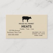 Black Cow Silhouette Business Card