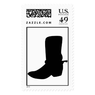 Black Cowboy Boot Stamps