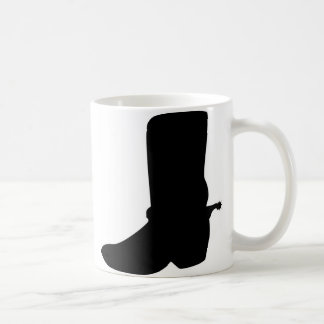Black Cowboy Boot with Spurs Coffee Mug