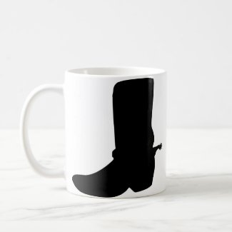 Black Cowboy Boot with Spurs mug