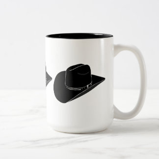 Black cowboy hat coffee mug