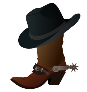 Black Cowboy Hat On Top of Leather Booth with Spur Cake Topper 82985d204a7a