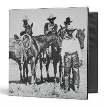 Black Cowboys at Bonham, Texas, c.1890 (b/w photo) Binder