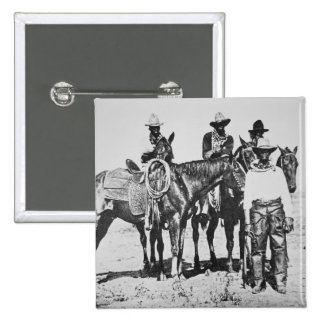 Black Cowboys at Bonham, Texas, c.1890 (b/w photo) Button