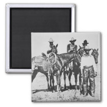Black Cowboys at Bonham, Texas, c.1890 (b/w photo) Magnet