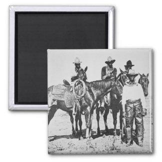 Black Cowboys at Bonham, Texas, c.1890 (b/w photo) Magnet