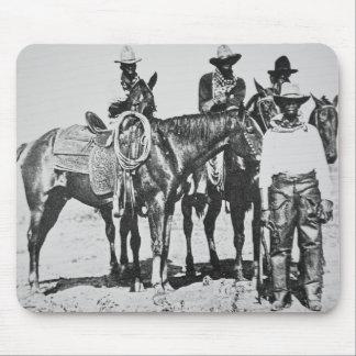 Black Cowboys at Bonham, Texas, c.1890 (b/w photo) Mouse Pad