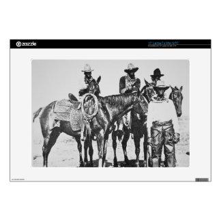 Black Cowboys at Bonham, Texas, c.1890 (b/w photo) Skin For Laptop