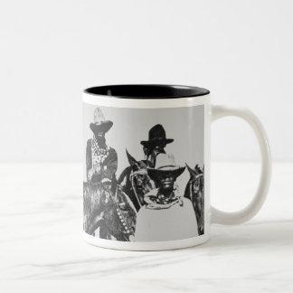 Black Cowboys at Bonham, Texas, c.1890 (b/w photo) Two-Tone Coffee Mug