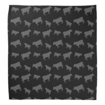 Black cows bandana