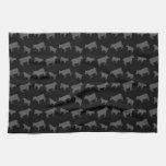 Black cows towel