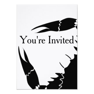 Black Crab Invitation