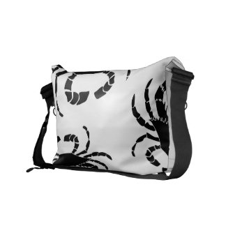 Black Crab Messenger Bag