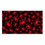 Black crab pattern business card